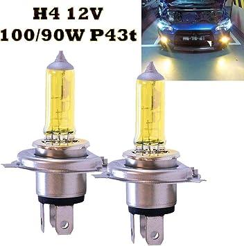 Jurmann Trade Gmbh 2x Lampen H4 12v 100w P43t Jurmann Aqua Vision Gelb Auto