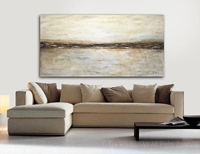 6 Foot Painting Original Large Landscape Earth Tones Neutral 6ft Abstract Art Oil 36 X