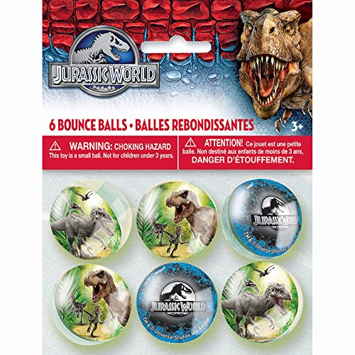 Jurassic World Bouncy Balls, 6ct