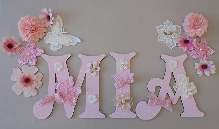 Flower wooden letter wall decoration setany 3 letter name flower wooden letter wall decoration setany 3 letter name available mightylinksfo