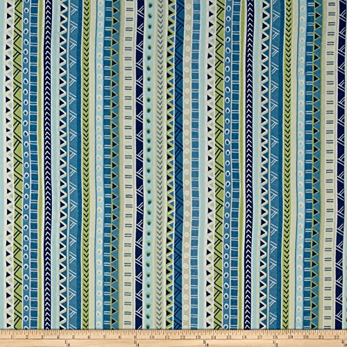 Swavelle/Mill Creek 0459769 Indoor/Outdoor Bramlett Waterside Fabric by The - Stripe Waterside