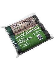 RELEVO - Bolsa Basura 100% Reciclado autocierre 30 litros; Cubo Normal. Pack de 3 Rollos- 15 Bolsas/Rollo. Cuidamos lo Que te Importa