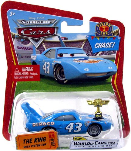Disney / Pixar CARS Movie 1:55 Die Cast Car Series 1 The King with Piston Cup Trophy Chase -