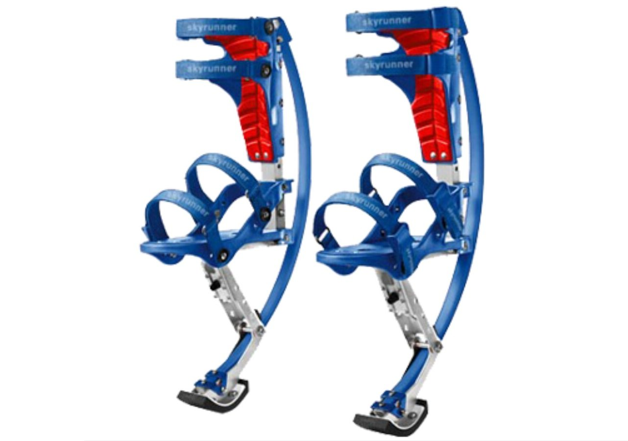 Kids/Child Youth Kangaroo Shoes Jumping Stilts Fitness Exercise (66-110lbs/30~50kg)(blue)