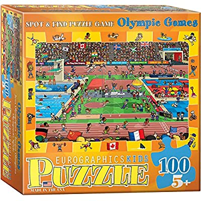 EuroGraphics Spot & Find Olympics Puzzle (100-Piece): Toys & Games