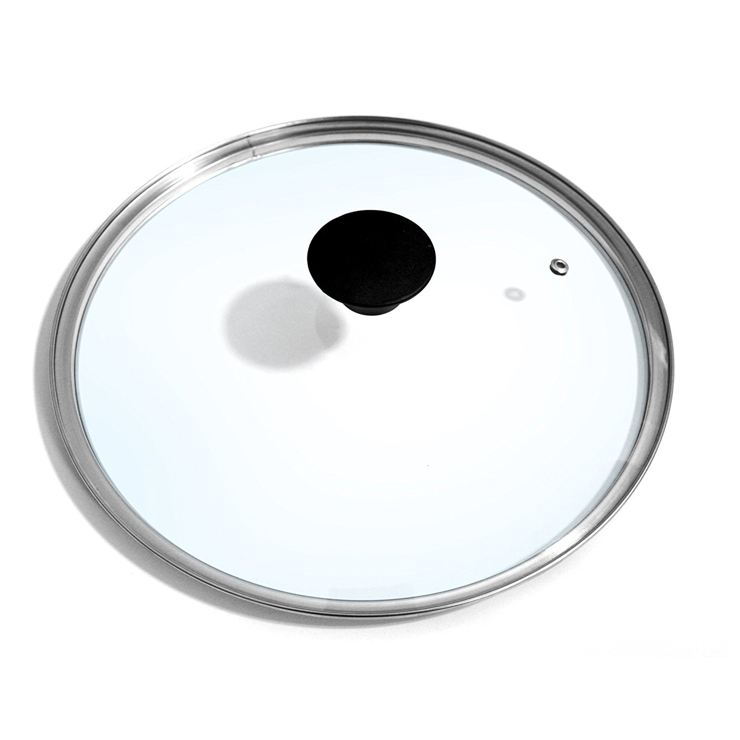 Cook N Home 10.25-Inch/26cm Tempered Glass Lid Cover With Vent, Clear