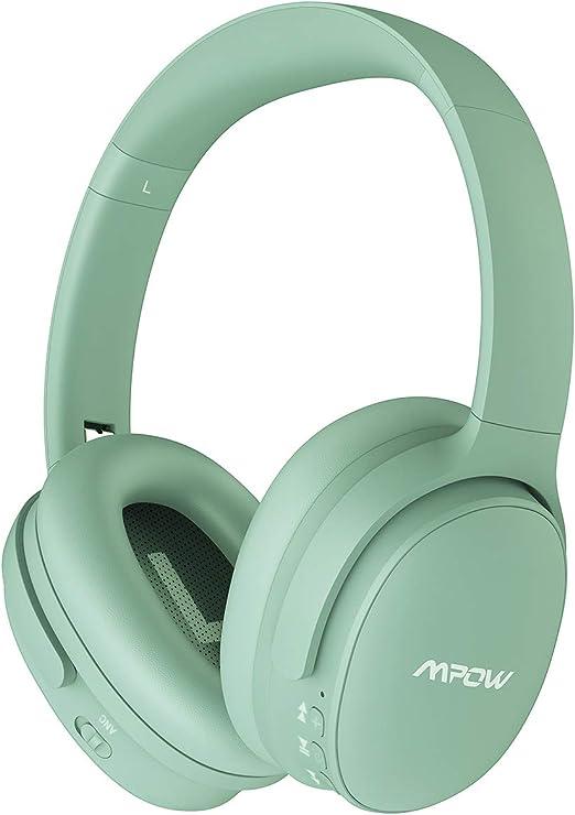 Mpow Thor Auriculares Diadema Bluetooth con Micrófono, Sonido Estéreo, Cascos Bluetooth Diadema con Micrófono para Videoconferencia, Auriculares Inalámbricos Diadema para TV/Móviles/PC, Negro: Amazon.es: Electrónica