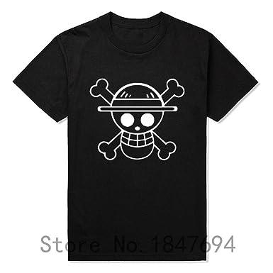 Timzhi Trade Fashion T Shirts Men Straw Hat Tshirt Cotton Anime Clothing