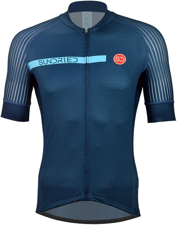 Sundried Camisa para Hombre Desgaste del Ciclo Pro Manga Corta Ciclismo Jersey Bici para la Bici del Camino de Bicicletas de montaña