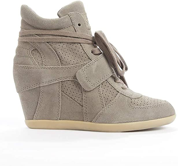 Ash - Bowie Calf Suede Wedge Trainers