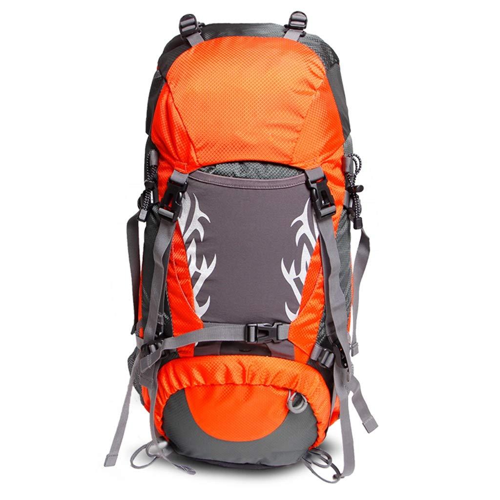 50L / 60Lハイキングバックパックキャンプリュックサック登山バッグバックパックパッキングトレッキングのための大容量旅行のデイパック ZHAOYONGLI (Color : Orange, Size : 60L) B07SS28LBR Orange 60L