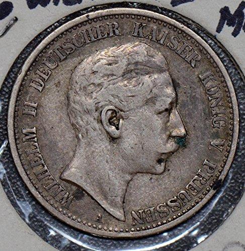(1906 DE 190113 Germany 2 Mark vintage silver DE PO-01)
