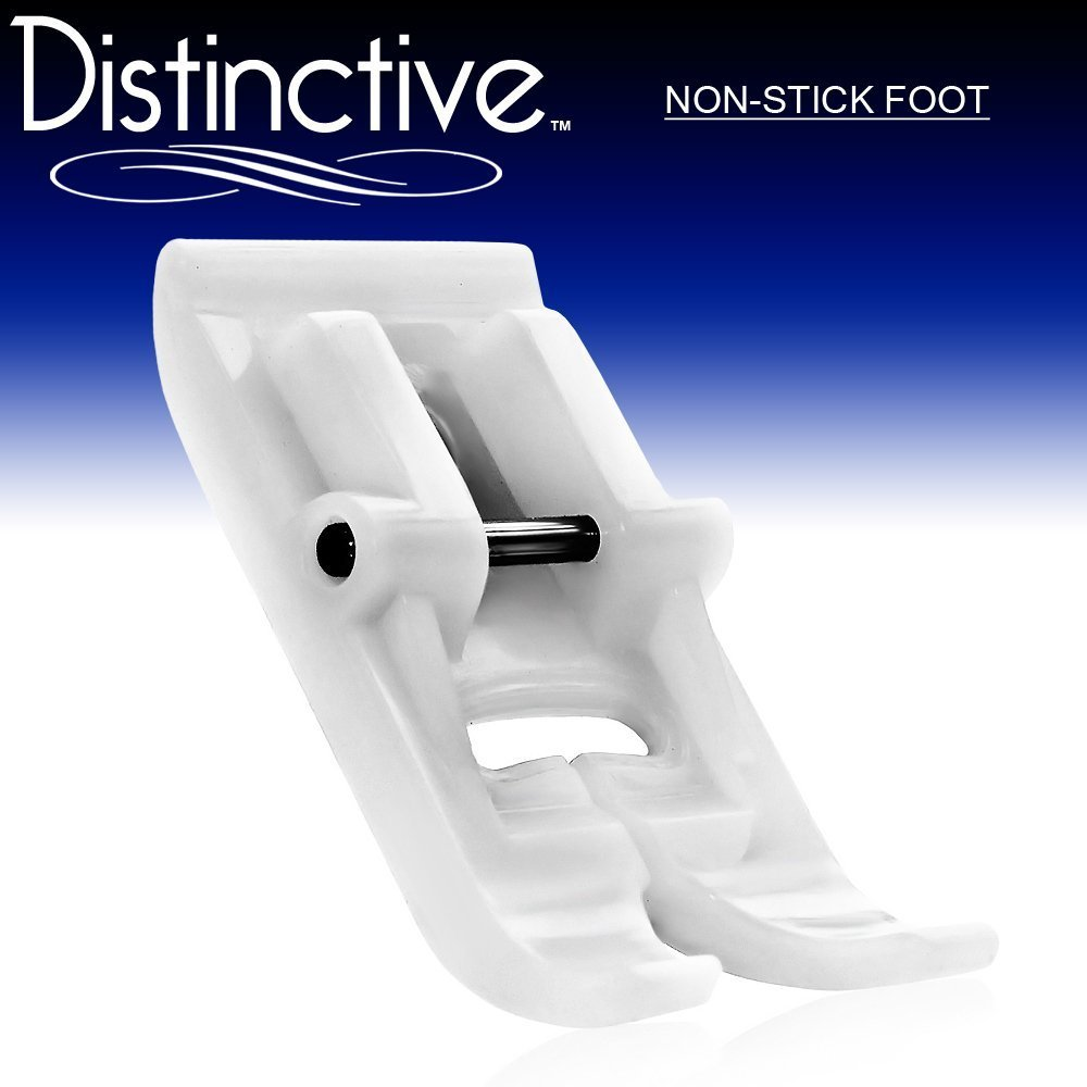 Distinctive Non-Stick Sewing Machine Presser Foot - Fits All Low Shank Snap-On Singer, Brother, Babylock, Euro-Pro, Janome, Kenmore, White, Juki, New Home, Simplicity, Elna and More! 4336999330