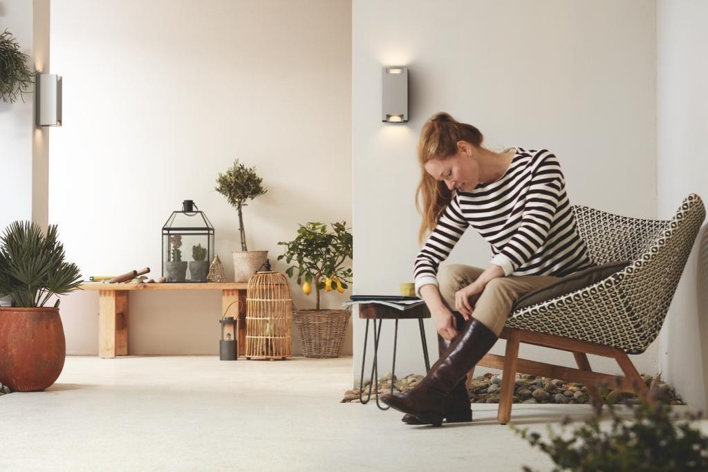 Philips luminaire extérieur applique trowel gris
