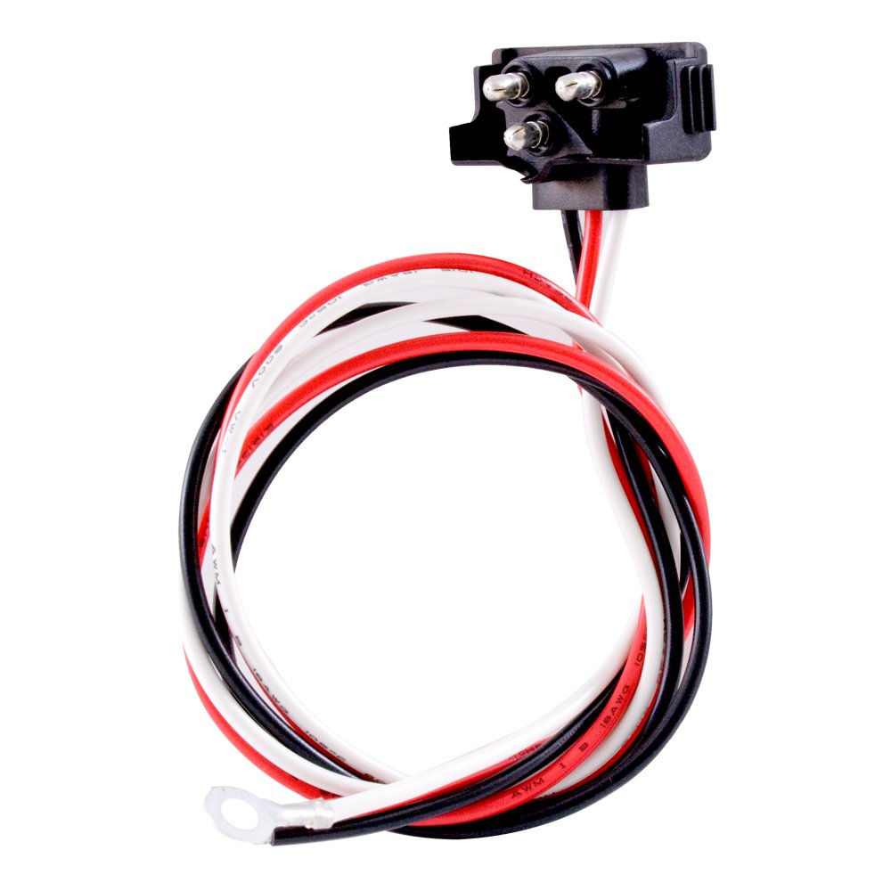 Grand General 80783 3-Prong Right Angle Pigtail with 3 Wires for Dual Function Lights