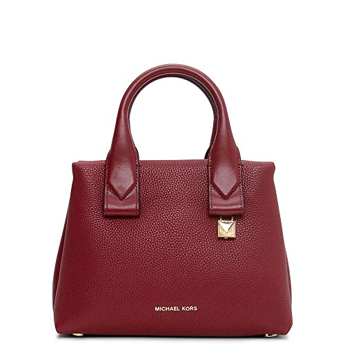 8c3019e07662 Michael Kors Rollins Small Leather Tote Bag In Burgundy: Amazon.co.uk:  Clothing