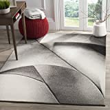 Safavieh Hollywood Collection HLW716G Grey and Dark Grey Mid-Century Modern Abstract Area Rug (5'3 x 7'6) For Sale