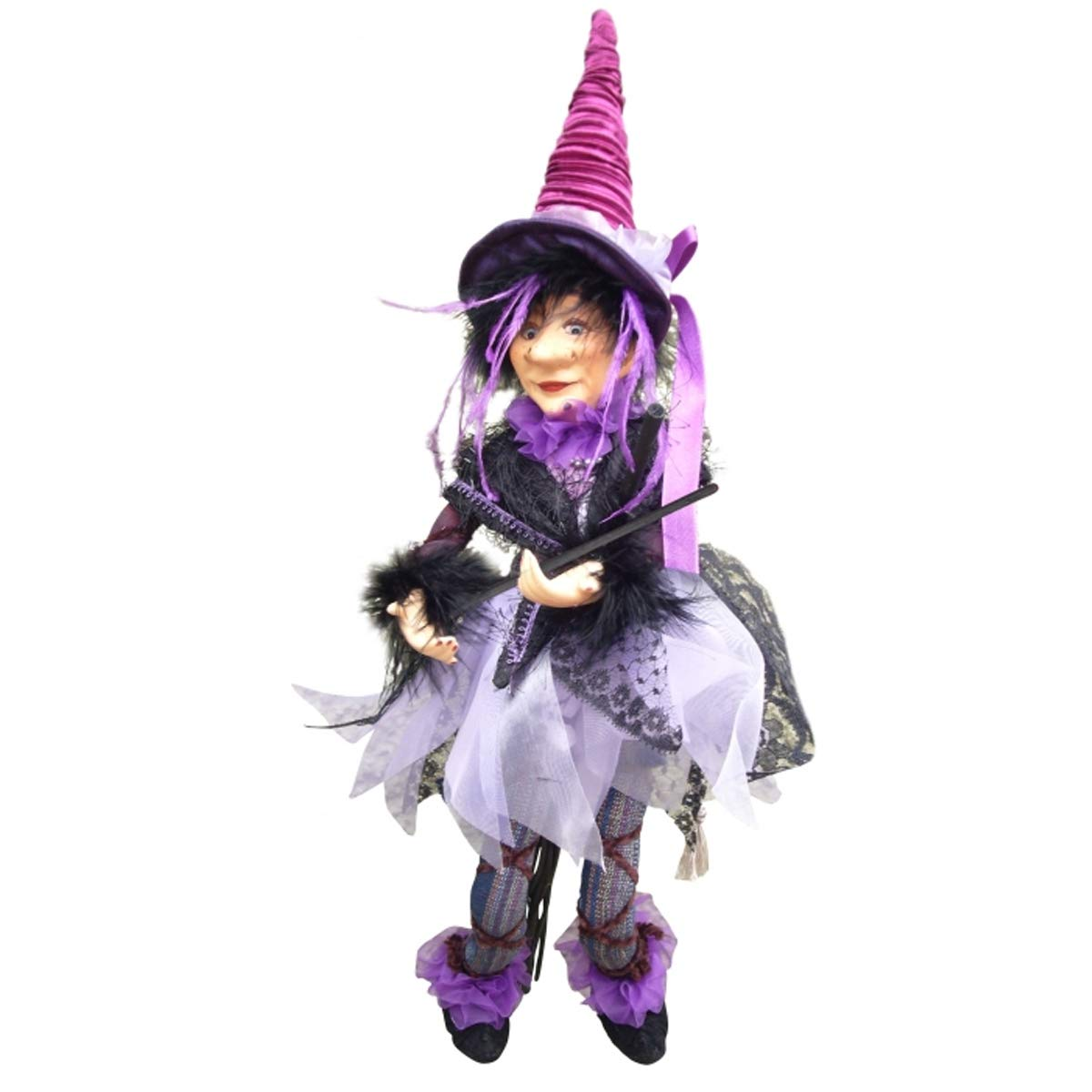 Grey Witches of Pendle 32cm Jazz Witch Flying