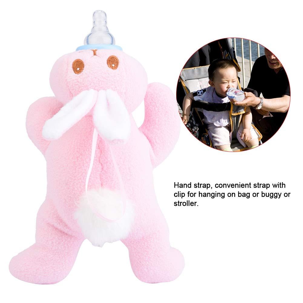 Sichere Kaninchen Form Rosa Baby Kinder Milchflasche Warm Halten Pl/üsch Beutel Abdeckung Thermische F/ütterung Tasche Baby Thermische F/ütterung Tasche