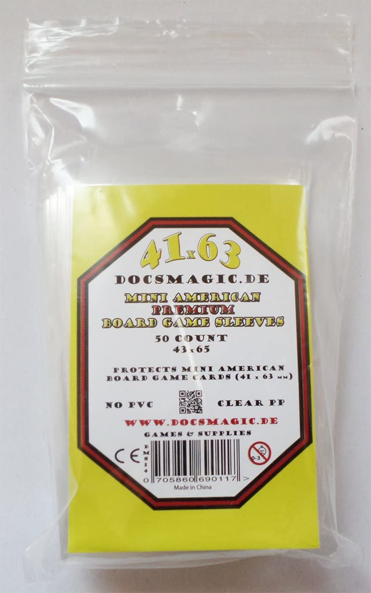 docsmagic.de 500 Premium Mini American Board Game Sleeves - 41 x 63 - 10 Packs - Small US - 43 x 65: Amazon.es: Juguetes y juegos