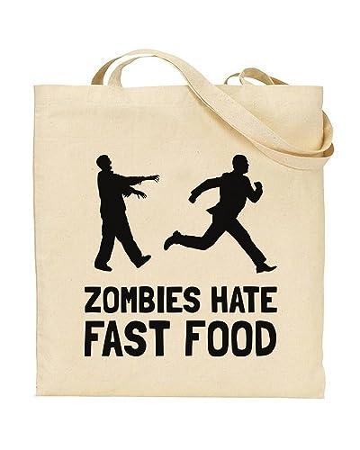 Zombies Hate Fast Food Zombie Apocalypse Zombie Jokes Tote