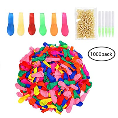 Water Balloons with Refill Kits Multi-coloured Fight Games Fun Party Game Kit for Kids Adults Outdoor Water Bomb Games - 1000PCS: Everything Else