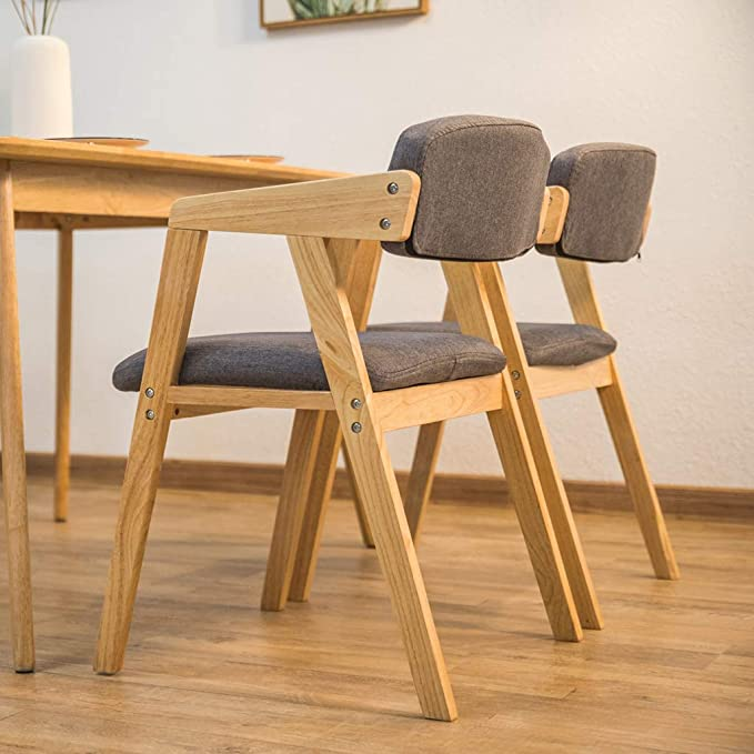 Amazon.com: MAOFALZZNA Retro Dining Chair with Armrest ...