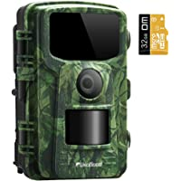 """Usogood Trail Camera with 32GB SD Card 1080P Game Camera with Night Vision Motion Activated Waterproof 2.4"""" LCD Screen for Outdoor Wildlife Monitoring, Garden, Home Security Surveillance"""