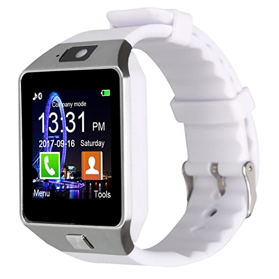 Padgene Dz09 Bluetooth Smart Watch With Camera For Samsung S5 Note 2 3 4 Nexus 6 Htc Sony And Other Android Smartphones White