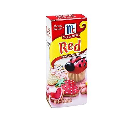 Amazon.com : Mccormick McCormick Red Food Color, 1 fz (Pack ...