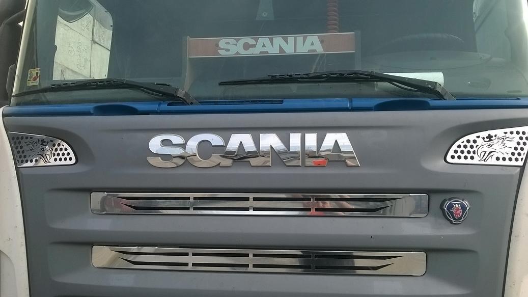 Juego de 2 embellecedores de de acero inoxidable pulido, para camiones Scania R P 2010-2016, para las entradas de aire OEM 1870595/1870596: Amazon.es: Coche ...