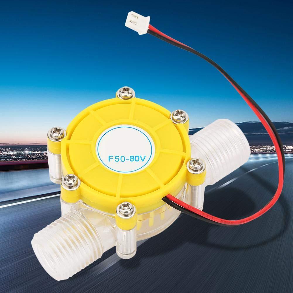 Jacksking Micro generador F50 Peque/ño Micro-hidro CD Bomba de Flujo de Agua Turbina Hidroel/éctrica Generador de energ/ía 12V