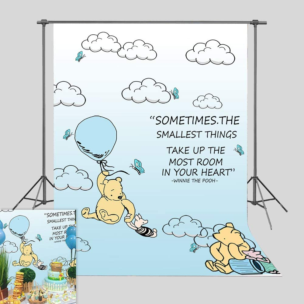 Amazon Com Cartoon Blue Sky Clouds Hot Air Photography Backdrop