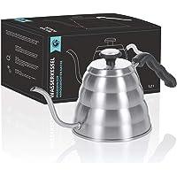 Hervidor de agua de 1,2 litros con termómetro; hervidor de café, hervidor de café y hervidor de té con control de…