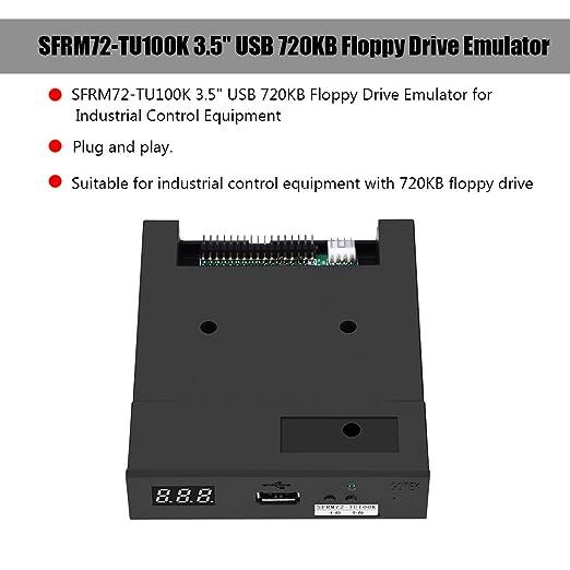 Richer-R 3.5 Inch Unidad de Disquete,Emulador de Disquetera USB para Equipos de Control Industrial con Unidad de Disquete de 720 KB.