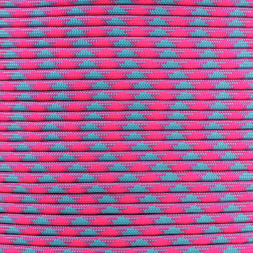 Cotton Candy Paracord Planet 550 Cord Type III 7 Strand Paracord 50 Foot Hank