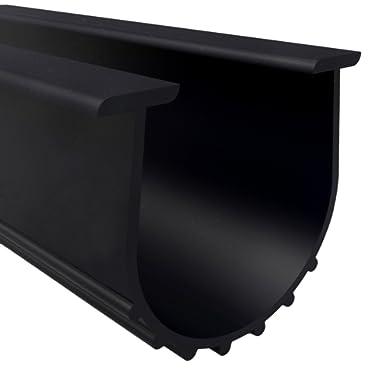 Loobani Garage Door Bottom Weather Stripping Rubber Seal Strip Replacement, 5/16  T Ends, 3 3/4  Width X 20 Feet Lenth (Black)