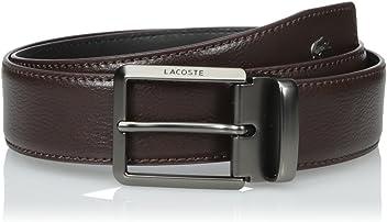 c43d82c2e4f30 Lacoste Men s Premium Leather Belt with Metal Croc