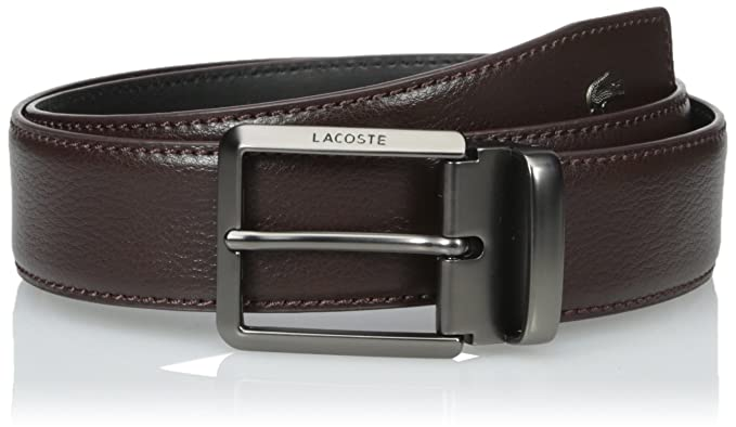 7753e5b7f36bec Lacoste Men s Men s Premium Leather Metal Croc Belt