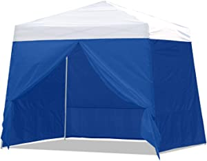 ABCCANOPY Slant Sidewall Kit, Paint Booth Slant Side Walls for 10x10 Feet Pop up Canopy, Beach Tent, Instant Shelter, 4 Walls ONLY, Blue