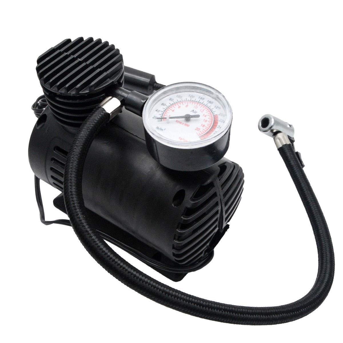 el/éctrico 300 psi compacto port/átil Maso Compresor de aire para coche 12 V inflador de neum/áticos con man/ómetro de presi/ón