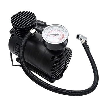 Maso - Compresor de aire para coche, 12 V, portátil, eléctrico, compacto, inflador de neumáticos con manómetro de presión, 300 psi: Amazon.es: Coche y moto