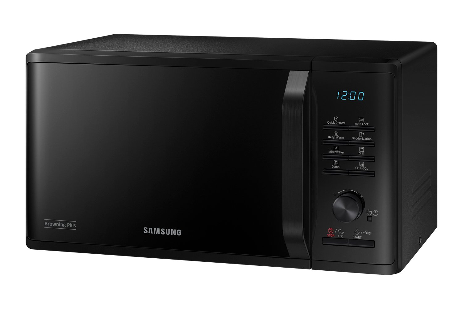 Samsung MG23K3515CK - Microondas (Countertop, Grill microwave, 23 L, 800 W, Buttons,Rotary, Black)