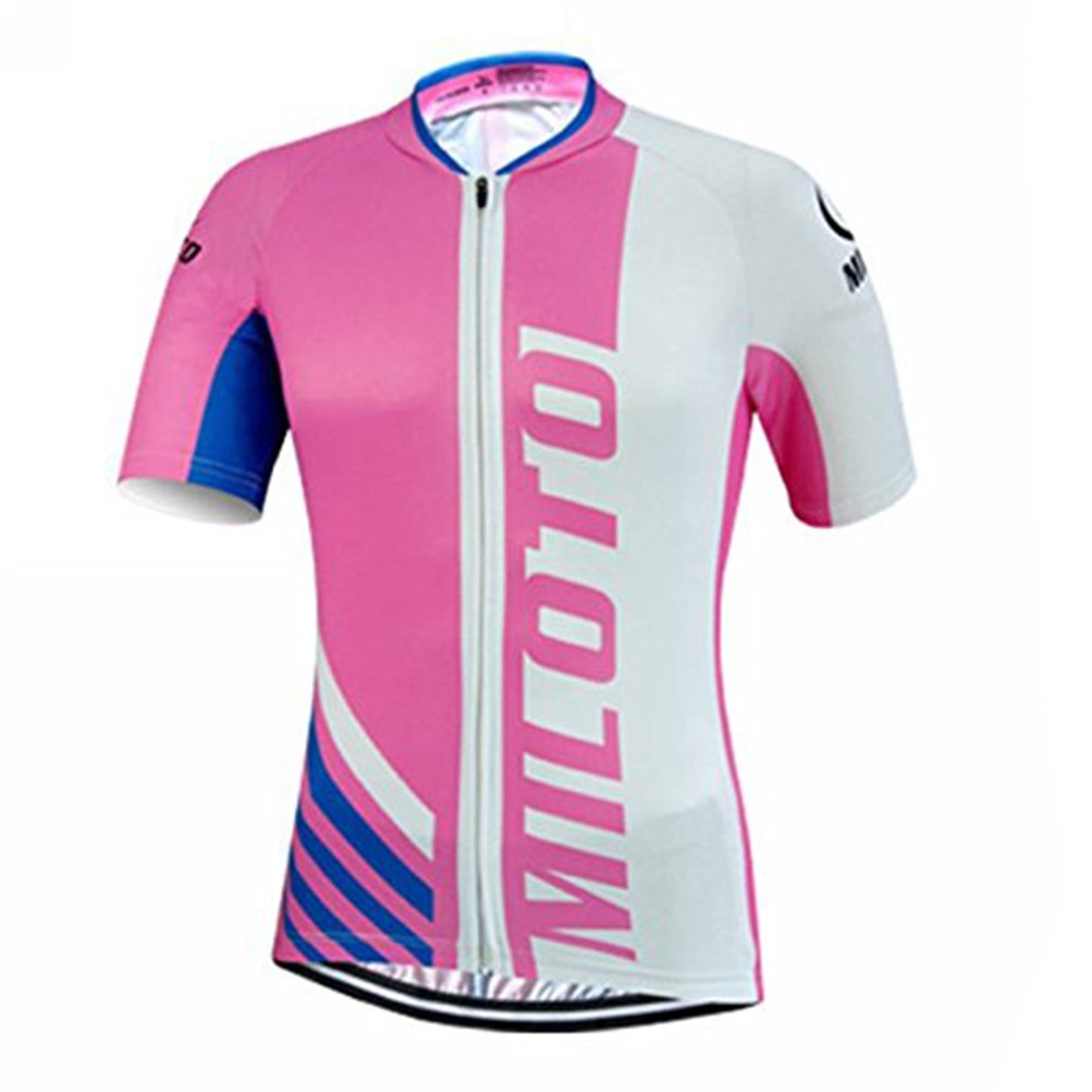 Uriah Women's Cycling Jersey Short Sleeve Reflective Half Pink Size XXL(CN) by Uriah
