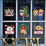 Natale Vetrofanie Adesivi Murali Rimovibile Fai da te Finestra Decorazione Vetrina Wallpaper di neve Christmas Decor Babbo Natale (B)