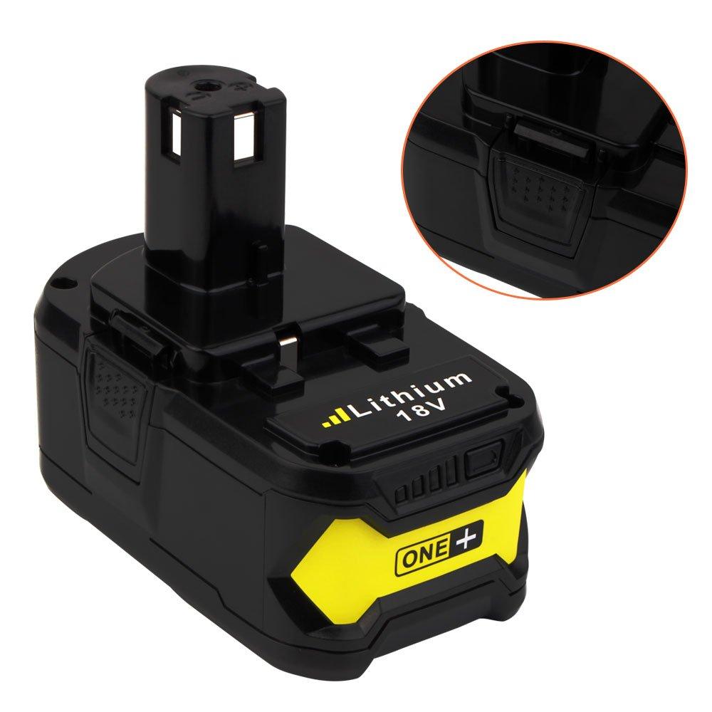 18V 6.0ah Lithium Ion Battery for Ryobi ONE+ P104 P105 P102 P103 P107 P108 P507 BPL-1815 BPL-1820G BPL18151 BPL1820 Cordless Power Tools (2-Pack) by VANON (Image #5)