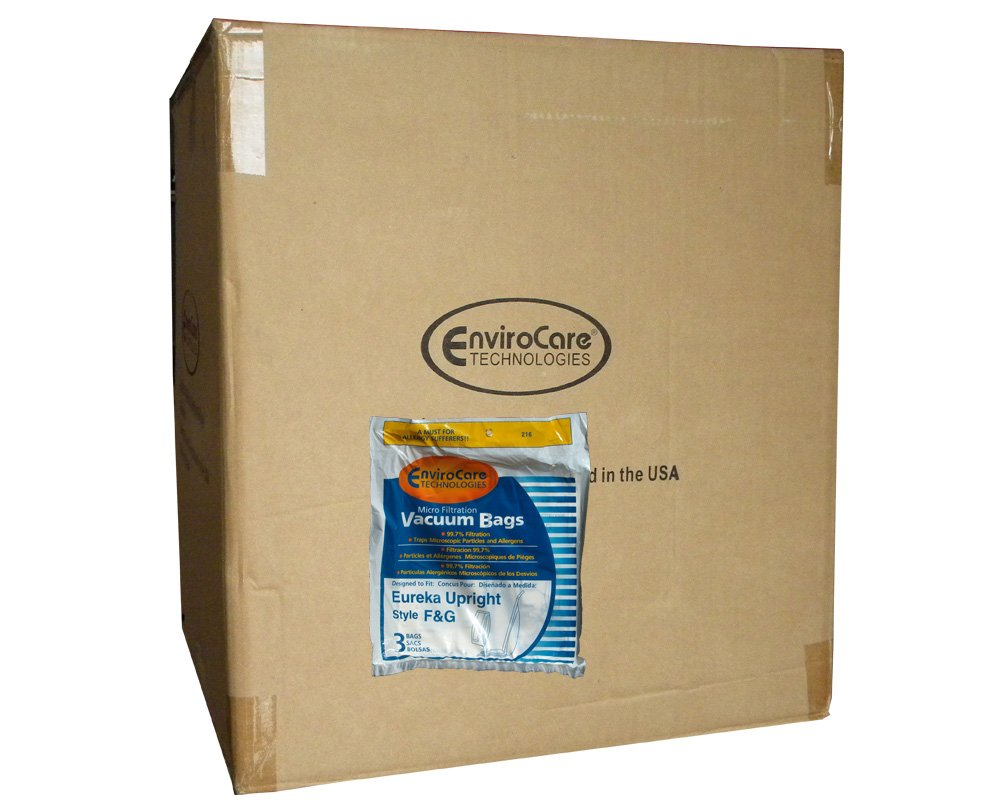 1 Case (50 pkgs) Eureka F&G Allergy Microlined Upright Commercial Vacuum Cleaner Bags