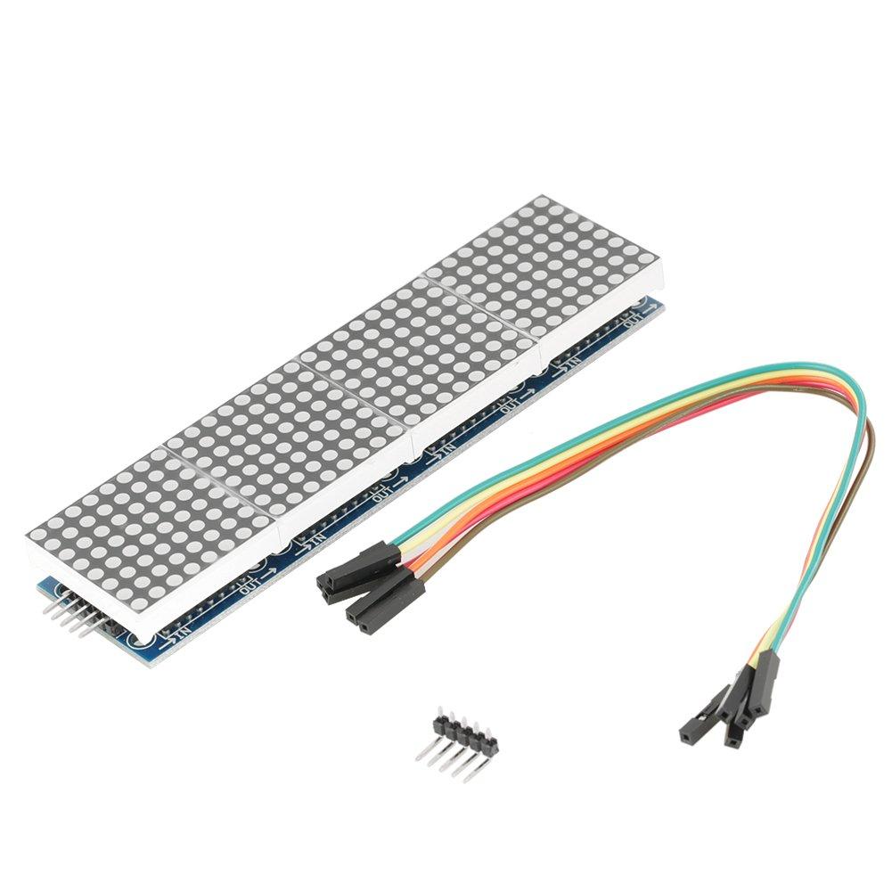 Wytino Dot Module, LED Module 1pc 4 in 1 MAX7219 LED Dot Display Driver Module MCU Controller DIY Kit by Wytino