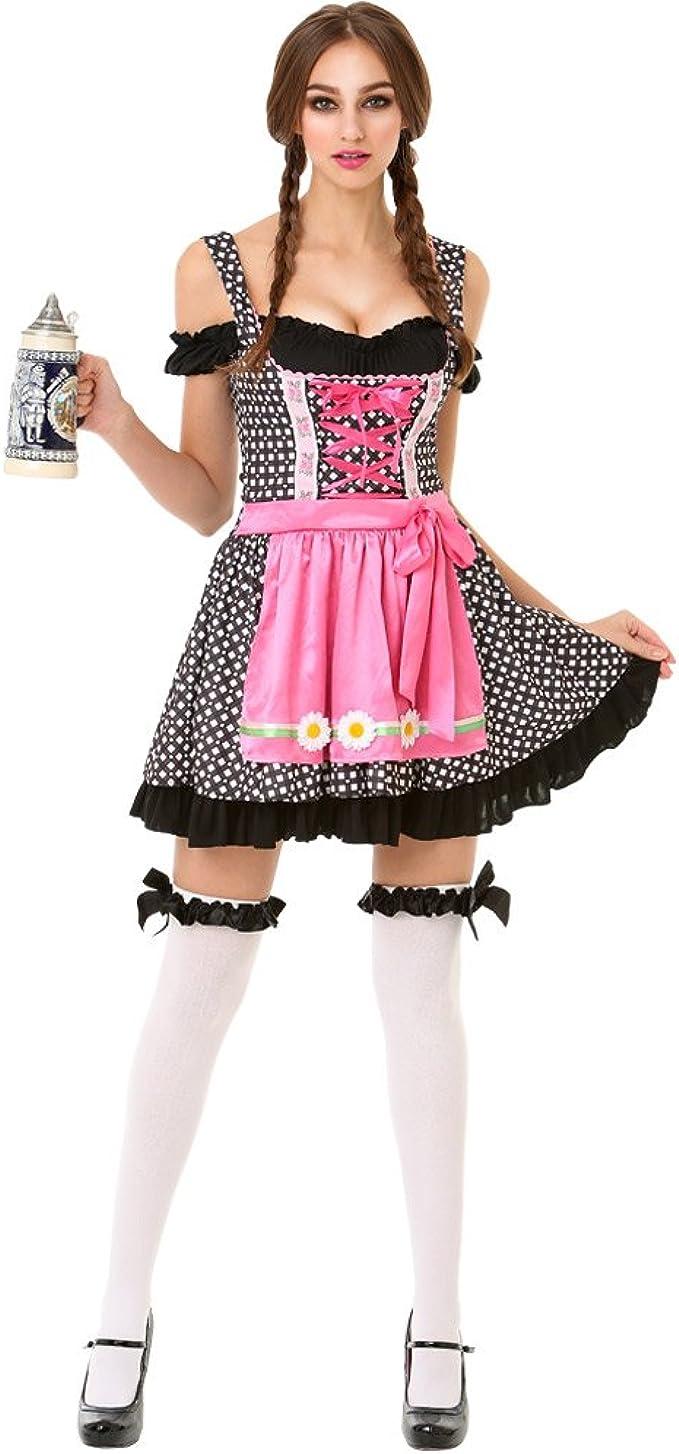 Amazon.com: OKTOBERFEST cerveza Maid Disfraz de Halloween de ...