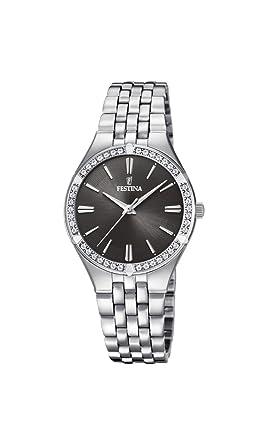 Festina Reloj Análogo clásico para Mujer de Cuarzo con Correa en Acero Inoxidable F20223/2: Amazon.es: Relojes